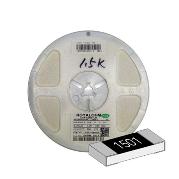 SMD 칩저항 1206(3216) 1/4W 1%(F급) 1.5K옴 1릴(5,000개)