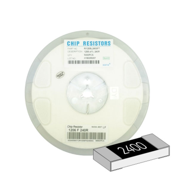 SMD 칩저항 1206(3216) 1/4W 1%(F급) 240옴 1릴(5,000개)