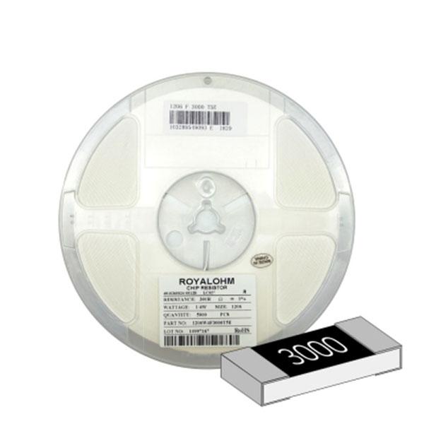 SMD 칩저항 1206(3216) 1/4W 1%(F급) 300옴 1릴(5,000개)