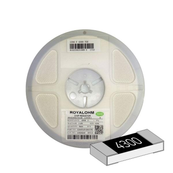 SMD 칩저항 1206(3216) 1/4W 1%(F급) 430옴 1릴(5,000개)