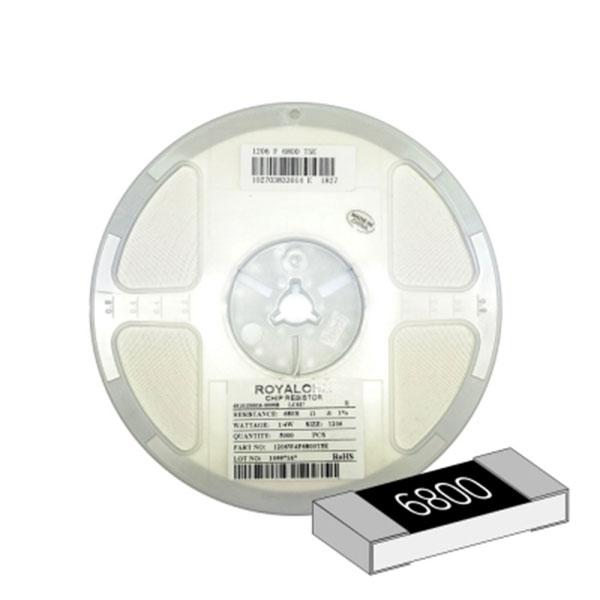 SMD 칩저항 1206(3216) 1/4W 1%(F급) 680옴 1릴(5,000개)