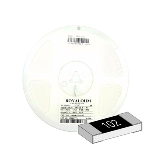 SMD 칩저항 1206(3216) 1/4W 5%(J급) 1K옴 1릴(5,000개)