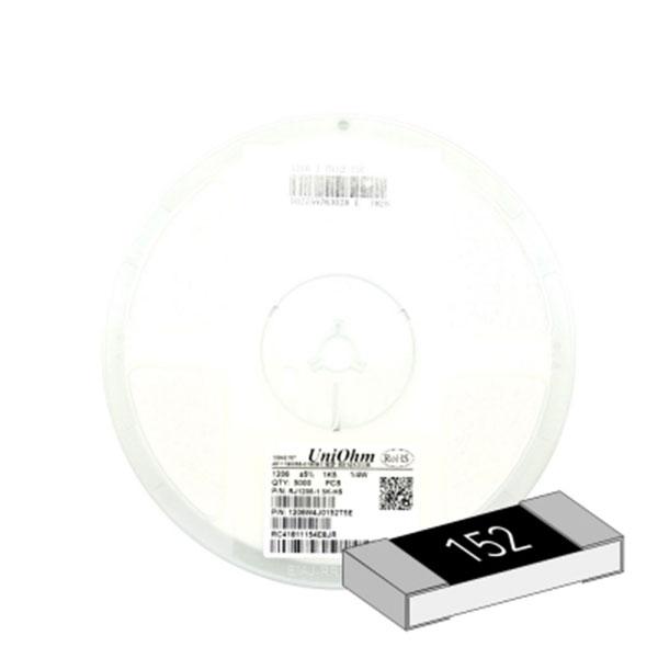 SMD 칩저항 1206(3216) 1/4W 5%(J급) 1.5K옴 1릴(5,000개)