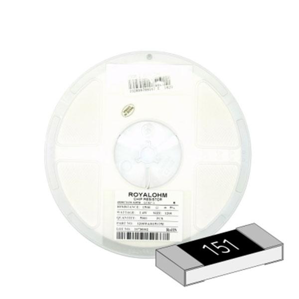 SMD 칩저항 1206(3216) 1/4W 5%(J급) 150옴 1릴(5,000개)