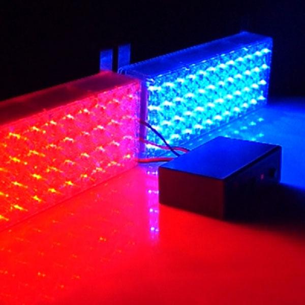 12V 사각 3기능 48발 LED경광등 고급형
