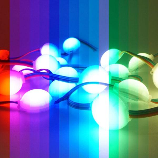 12V용 1구 반원 LED모듈 RGB LED 낱개1개