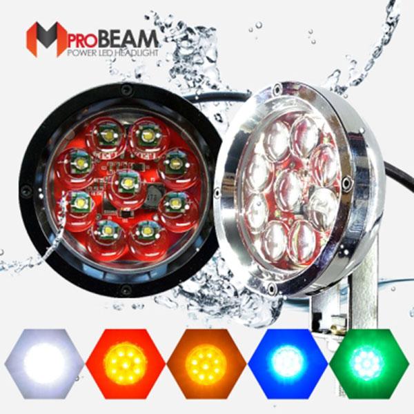 12V-24V겸용 엠프로빔 완벽방수 LED써치라이트 집중형