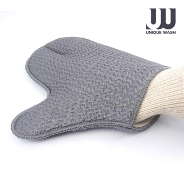 유니크워시 UW-016 초극세사 분섬사 양면 찌든때용 다용도 세차장갑