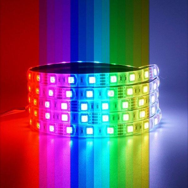 12V용 고급형 5050 3칩 LED바 RGB LED 5M 롤