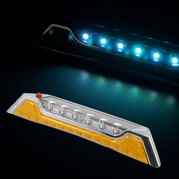 리플렉터 태양열 크롬사각 LED 경광등
