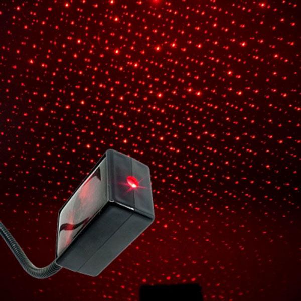 천장에 별빛이 내린다 갤럭시 레이저 자동변환 LED무드등 레드 USB타입/스위치내장/조명