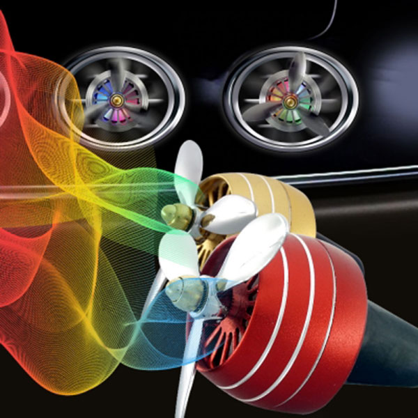 LED 3날 프로펠러 송풍구 액세서리 자동차량용