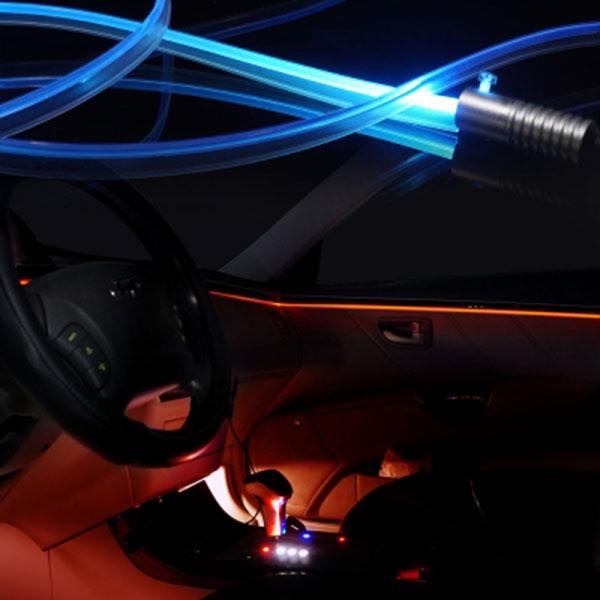 자동차량 12V용 3세대 엠비언트 무드등 라이트LED바/무소음 광섬유 EL와이어