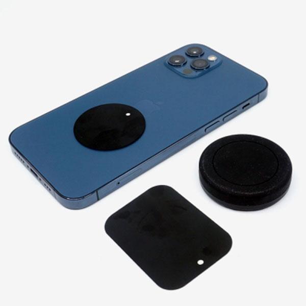 삼항LED 원형 마그네틱홀더(자석홀더) 블랙 / 스마트폰 휴대폰 거치대