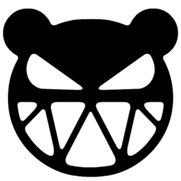 A'K! KUMA 악! 쿠마 스티커 (낱개 1개) / 차량 데칼 반사스티커