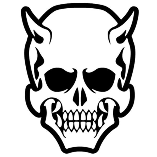 ONI SKULL 오니 해골 스티커 (낱개 1개) / 차량 데칼 반사스티커