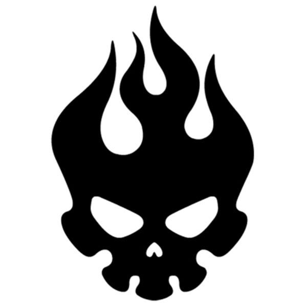 FIRE SKULL 불꽃 해골 스티커 (낱개 1개) / 차량 데칼 반사스티커