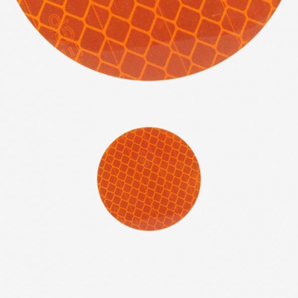 반사리플렉터 스티커 미니원형 오렌지 10개 1세트
