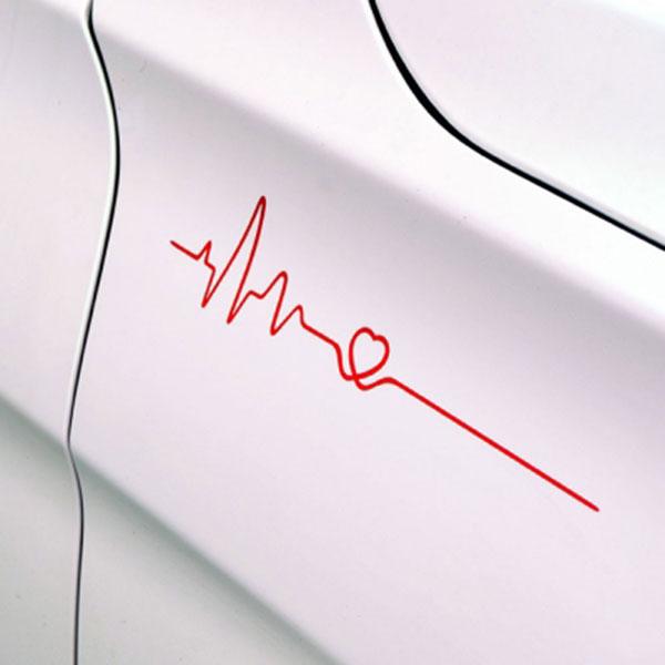 HEART BEAT 하트비트 스티커 (좌우 1세트) / 차량 데칼 반사스티커