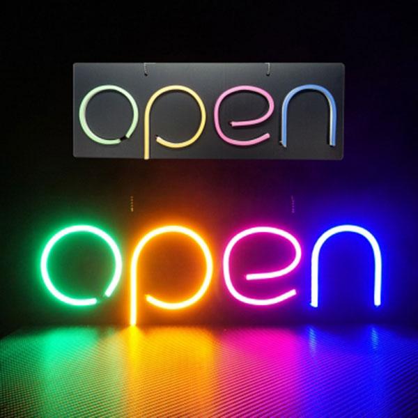 OPEN 포맥스 LED네온간판 / 입간판 영업중간판 전광판 미니간판 푸드트럭 LED간판