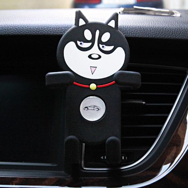 본 차량용 댕댕이 휴대폰 거치대 송풍구