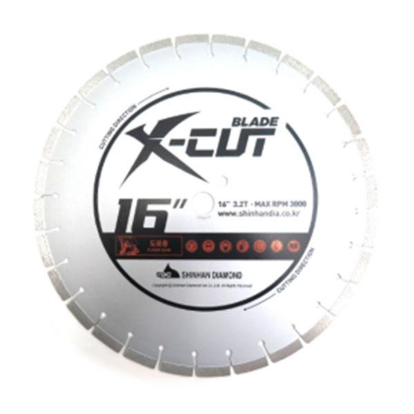 """신한 콘크리트쏘 X-cut 16""""x3.2T 도로용"""