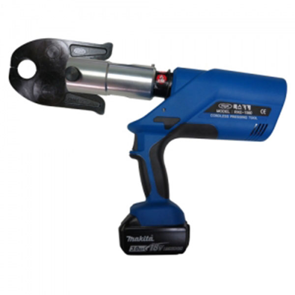ROX 충전식 스텐파이프 이중링 압착기 RXE-1560 18V-3.0Ah#2pack