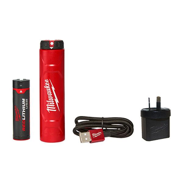 밀워키 USB배터리충전기세트 L4NRG-201