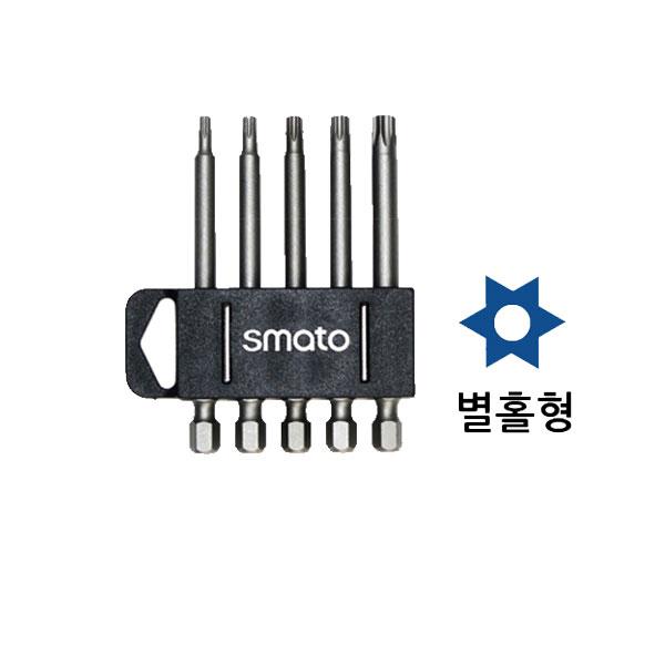 """스마토 별비트세트 홀형 SM-TBS75 1/4""""x75mm"""
