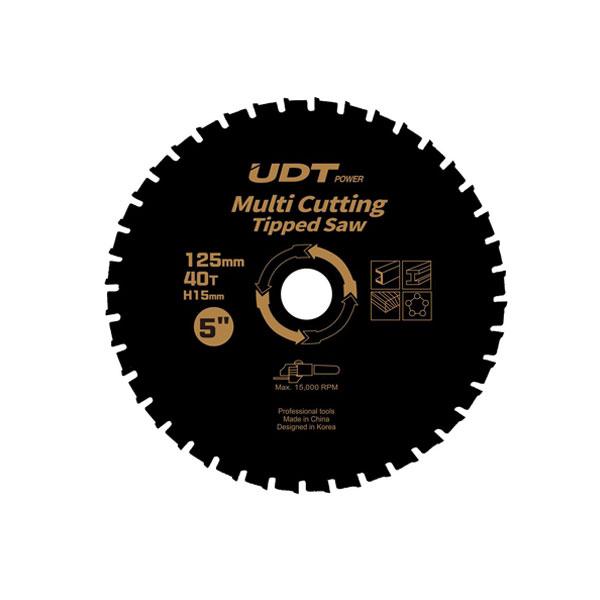 "UDT 멀티커팅팁쏘 5"" 125*40*1.5t"