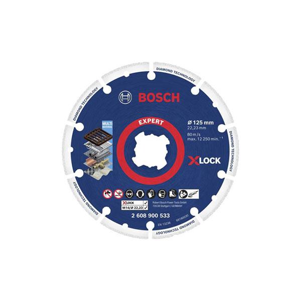 "BOSCH X-Lock 다이아몬드디스크 5""*1.4T@금속용"