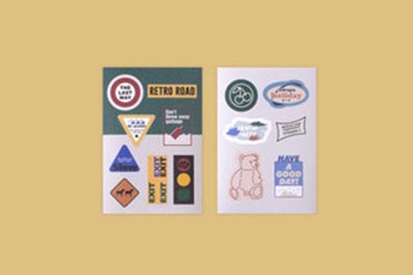 루카랩 My retro sticker_paper_LS-201