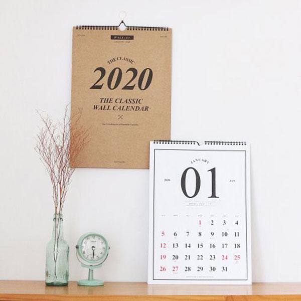 2020 클래식 월 캘린더 A3