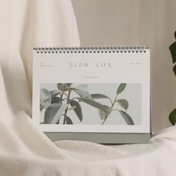 2020 Slow life desk calendar