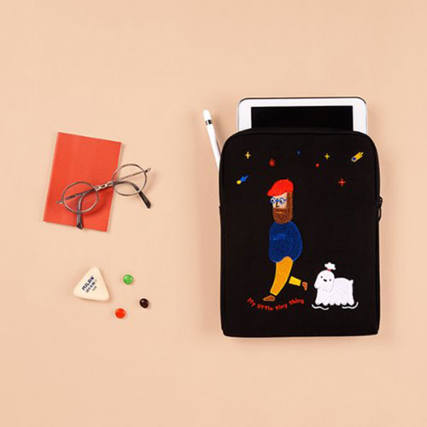안테나샵 iPad POUCH WATERPROOF CANVAS_Moonwalker