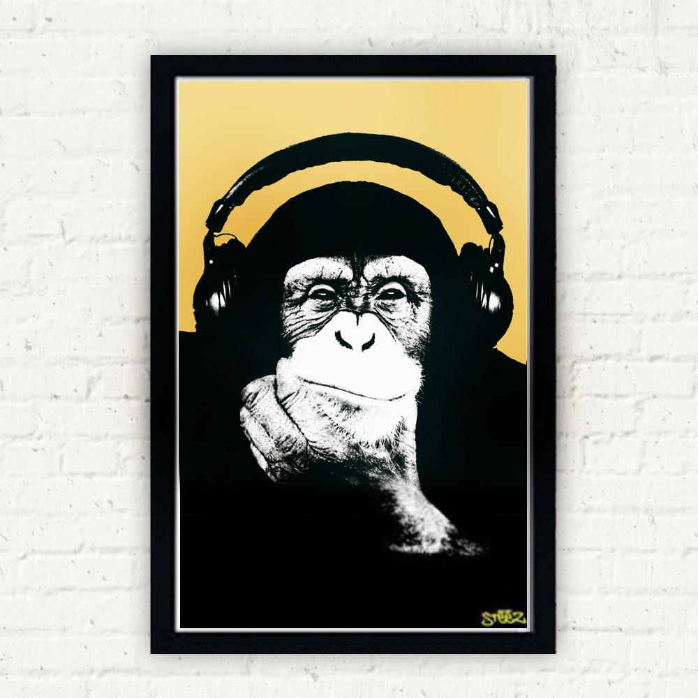 Steez 헤드폰 원숭이 포스터 (159475)