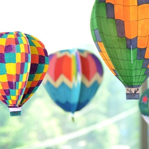 Colorful Land - Air Balloon