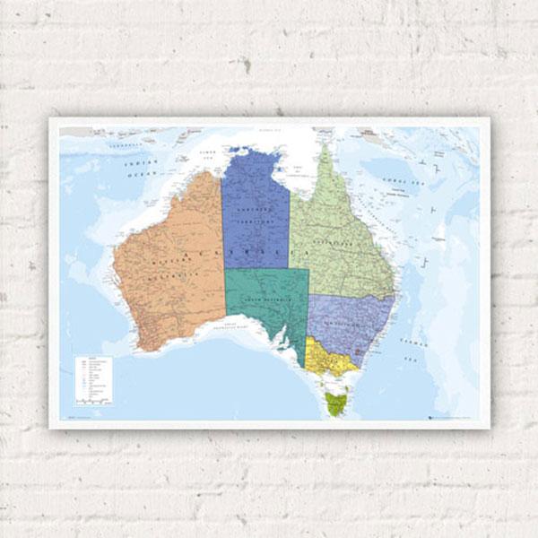 호주지도 GN0608