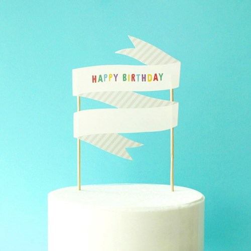 MESSAGE CAKE TOPPER