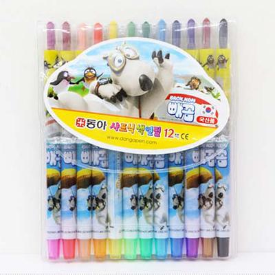 12색 돌돌이 색연필 빼꼼