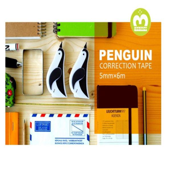 마그넷 penguin 펭귄 수정테이프 1p