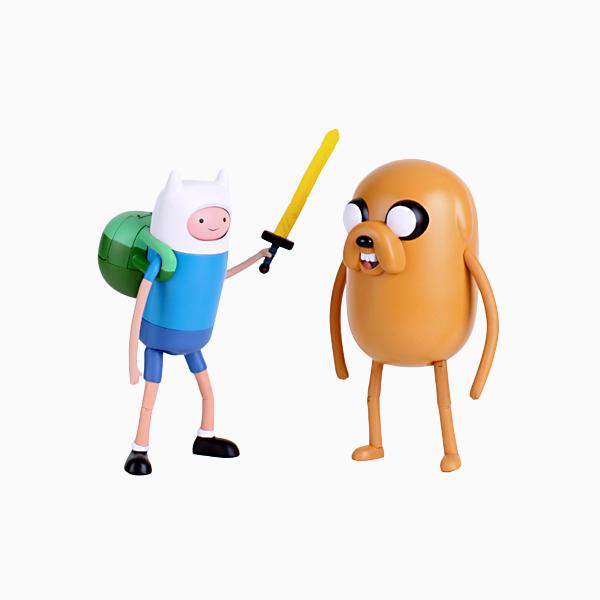 L어드벤처타임 10인치 슈퍼 피규어 핀 and 제이크
