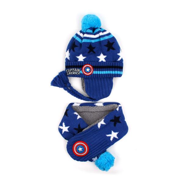캡틴 아메리카 스타덤 방한세트 블루
