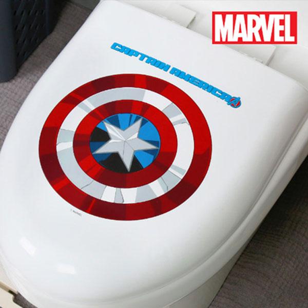 캡틴아메리카 라운드 하드형변기커버 대형O형