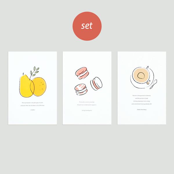 오디너리 포스트카드 - 3종 세트