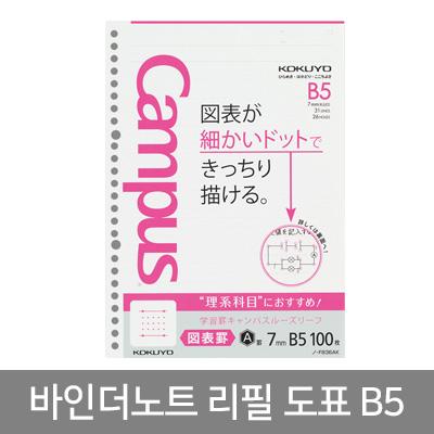 바인더노트(도표용)B5 100매 리필