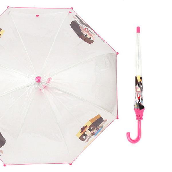 샌드박스 잠뜰 돔형 50 비닐우산 핑크