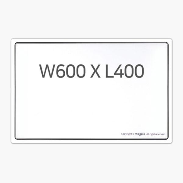 고무자석 화이트보드 W600 X L400