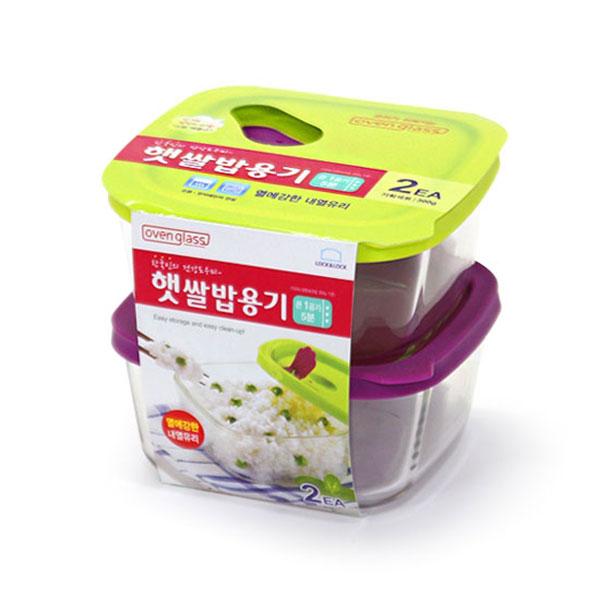 LLG502S2 오븐글라스 햇쌀밥용기 410ml 2개세트 *