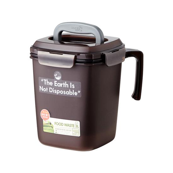 LDB501BR 음식물 쓰레기통 3L_브라운